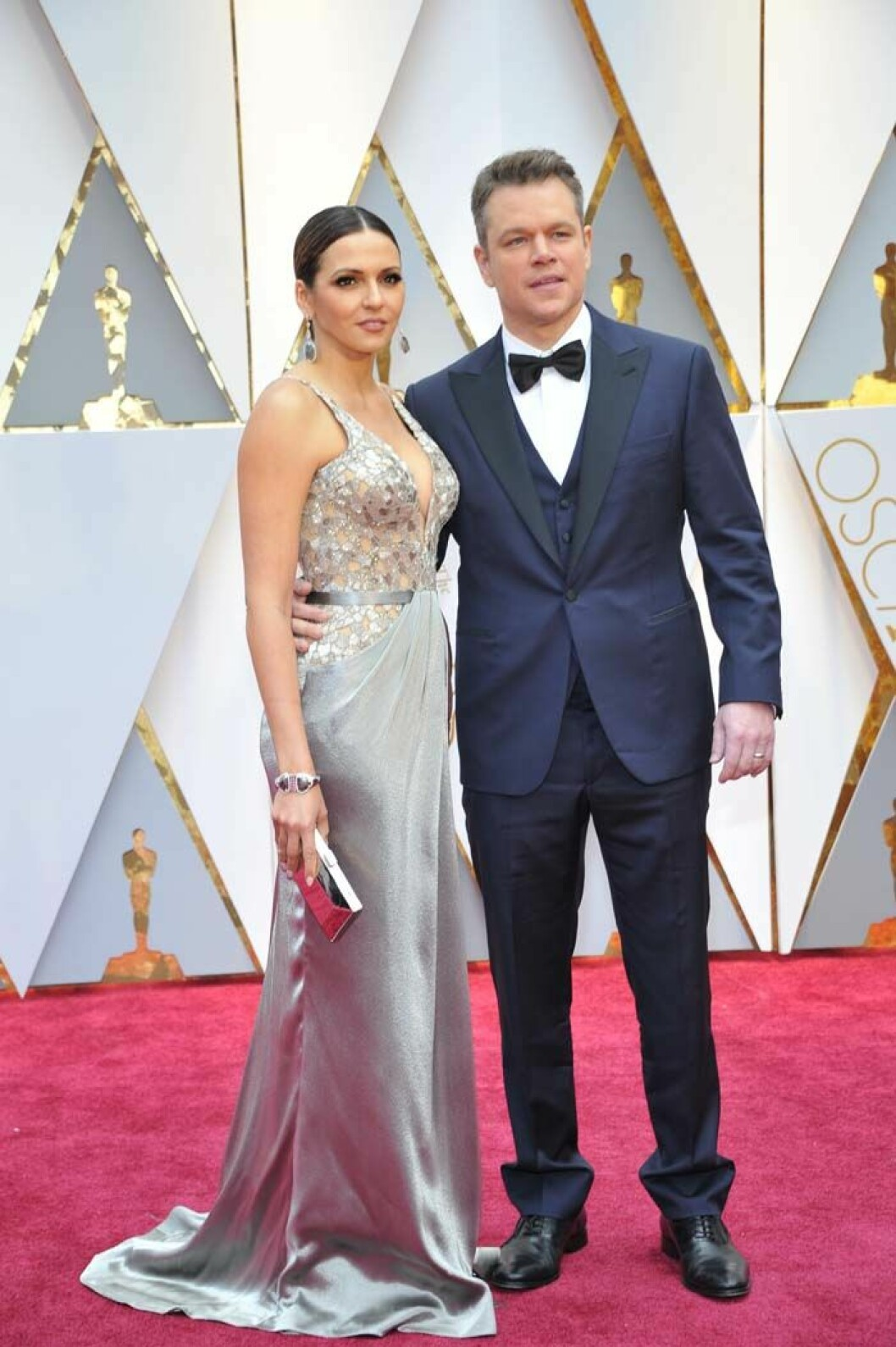 LOS ANGELES, CA - FEBRUARY 26: Luciana Barroso and Matt Damon at the 89th Academy Awards at the Dolby Theatre in Los Angeles, California on February 26, 2017. Credit: mpi99/MediaPunch