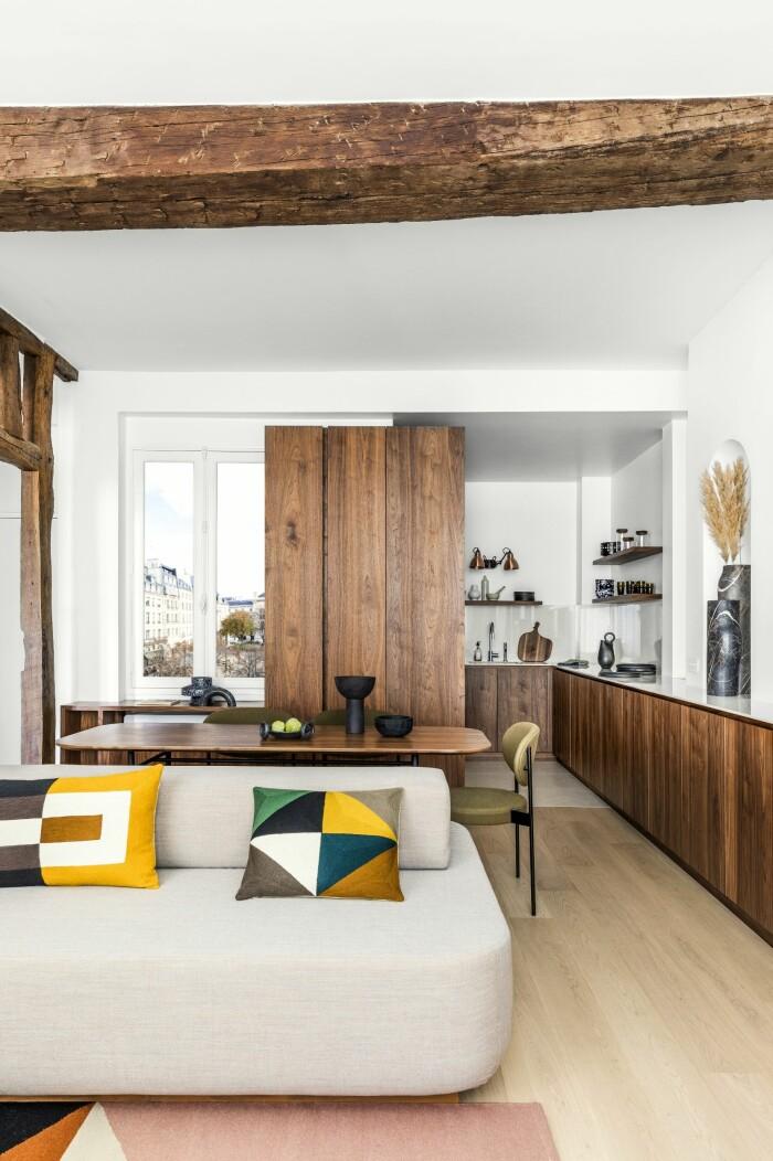 Paris 45 kvm smarta lösningar kök och vardagsrum