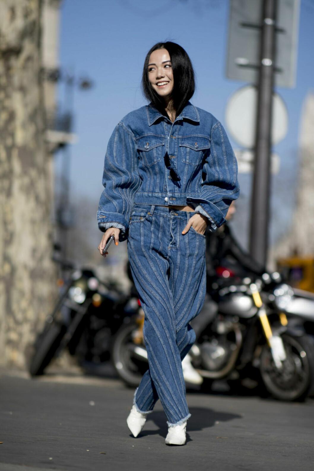 Streetstyle Paris FW, jeans från topp till tå.