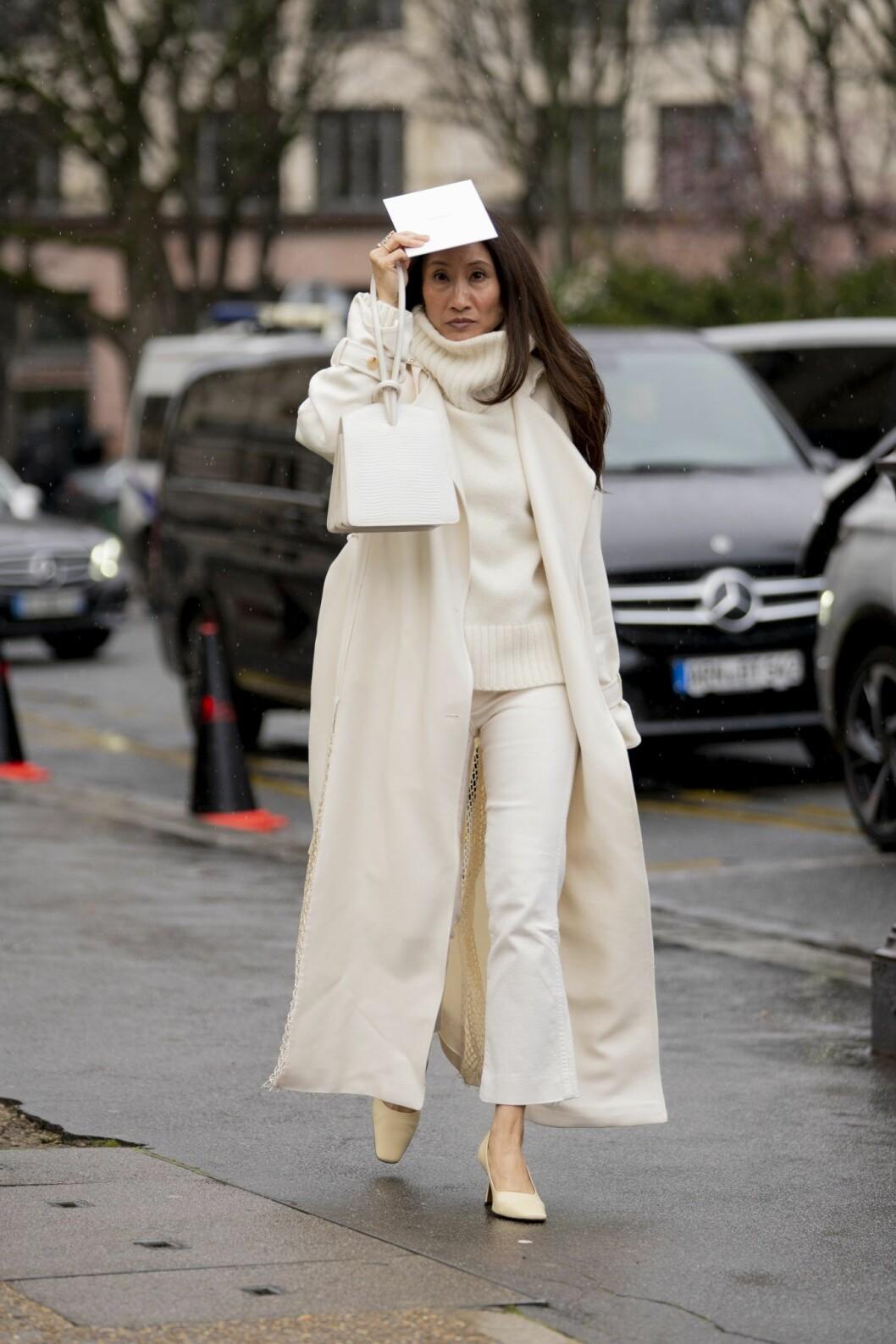 Polotröja Paris fashion weeks streetstyle.