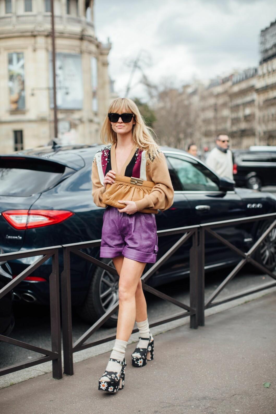 Lila short Paris fashion Week AW20.