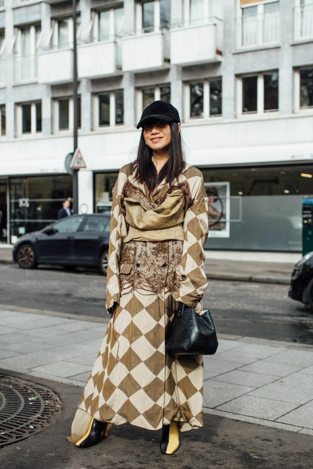 Rutig look Streetstyle Paris Fashion Week AW20.
