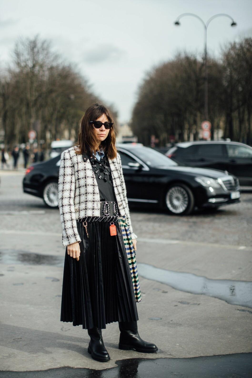 Kappa med rutor från Paris Fashion Week.