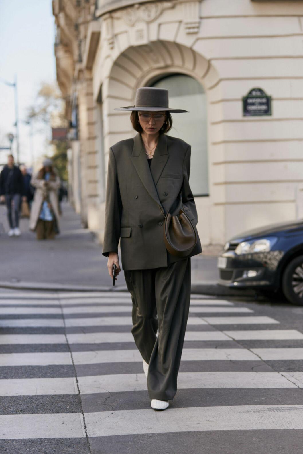 Streetstyle Paris FW, Oversized kostym.