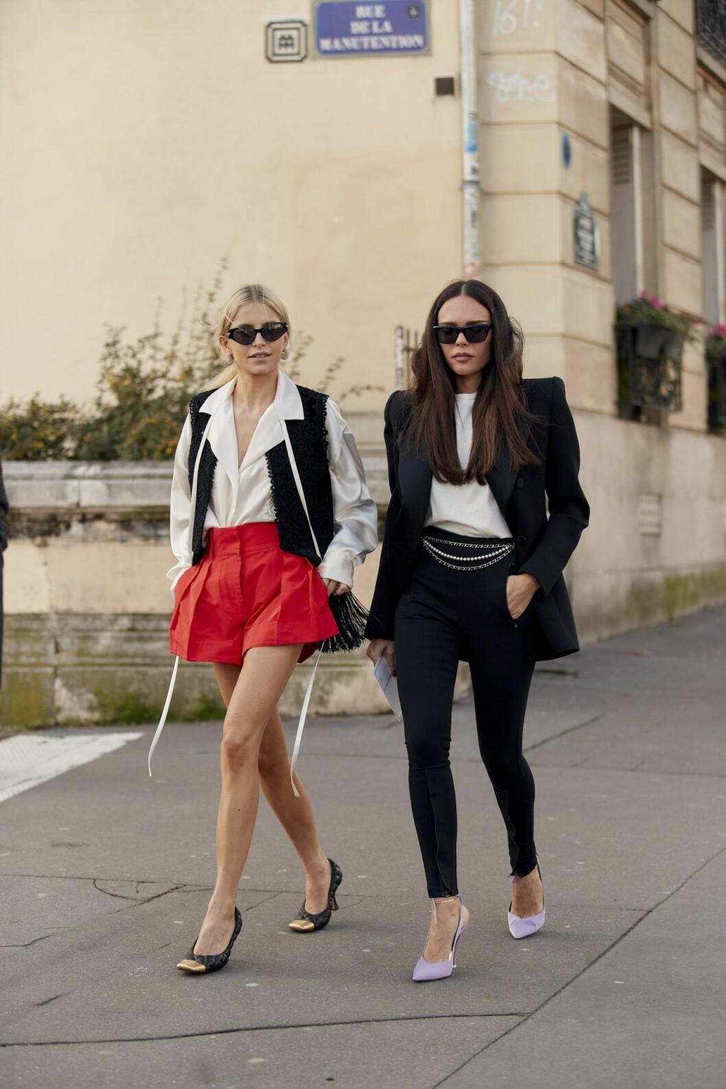 Lila klackskor Streetstyle Paris Fashion Week AW20.
