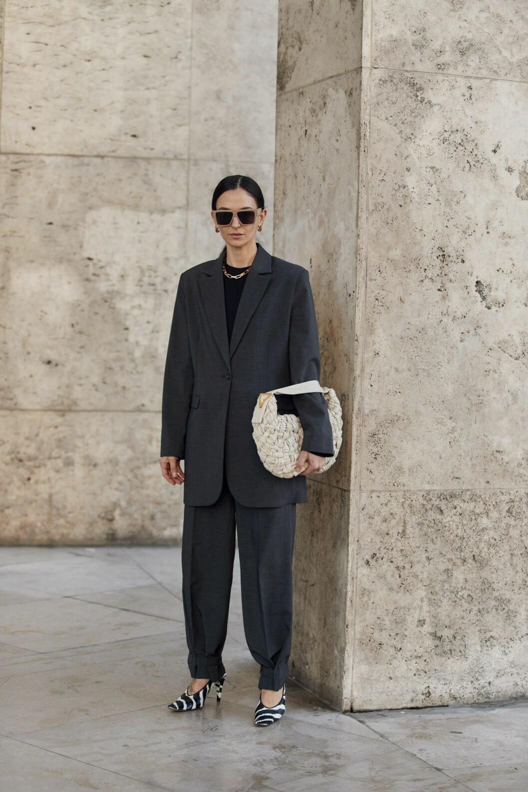 Djurmönstrade skor Streetstyle Paris Fashion Week AW20.