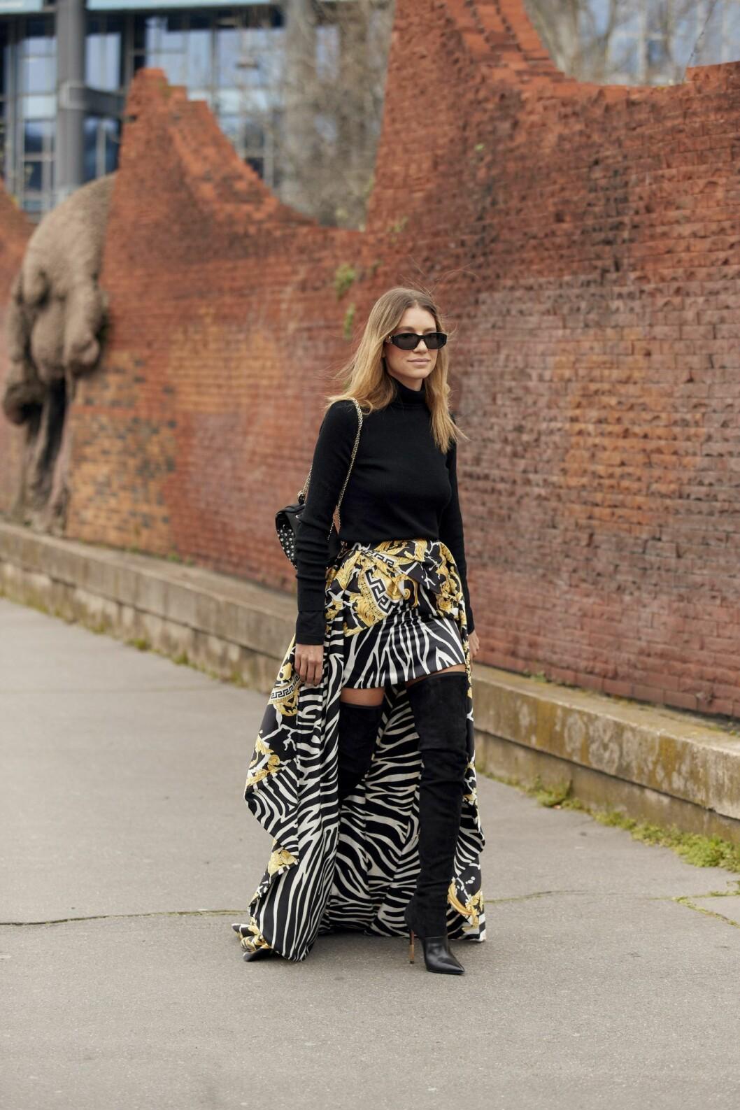 Kjol Streetstyle Paris Fashion Week AW20.