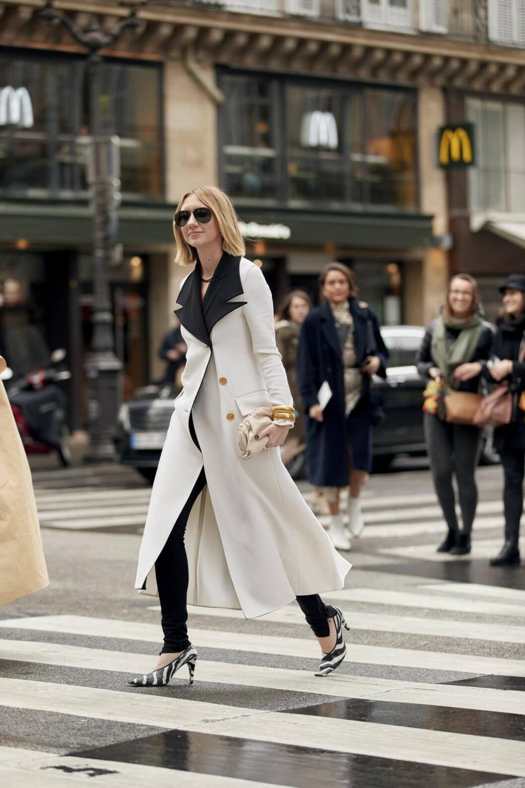 Zebramönstrade skor Streetstyle Paris Fashion Week AW20.