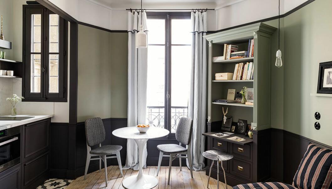 Lyxig lägenhet i Paris på 18 kvadratmeter.