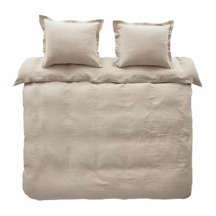 Påslakanset i linne beige