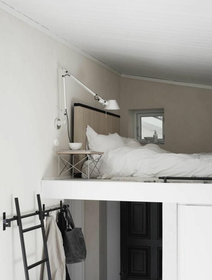 Snyggt sovloft i attefallshus