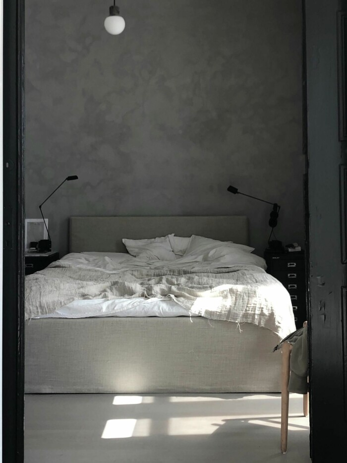 Sovrum hemma hos Pella Hedeby