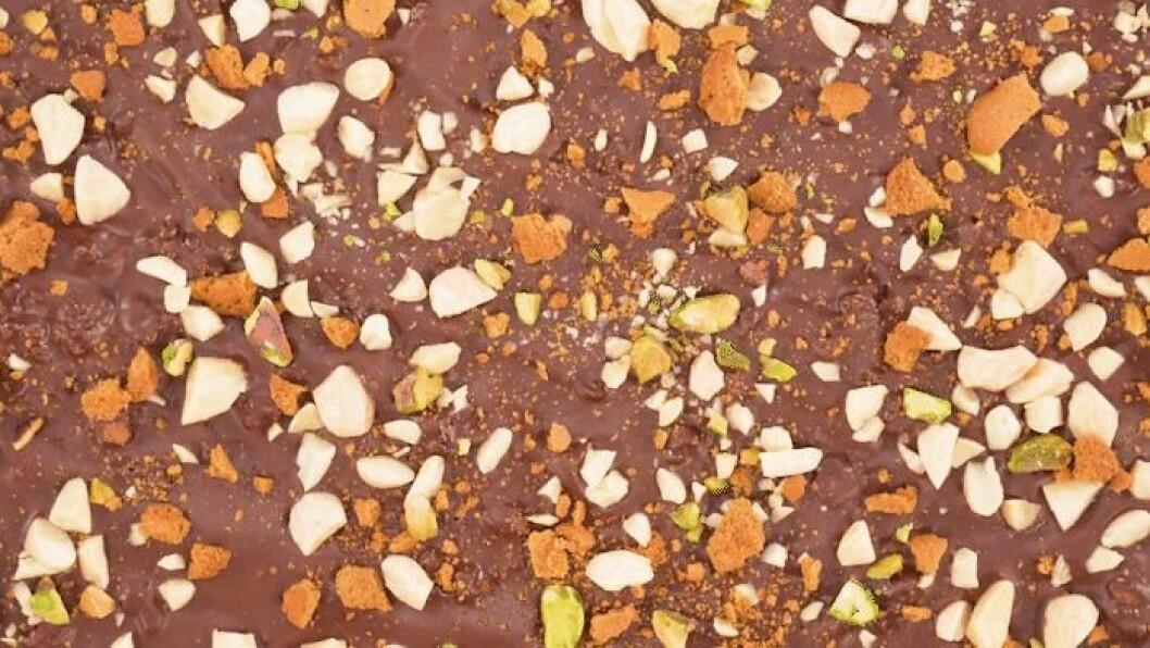 nötig chokladbräck med pepparkaka