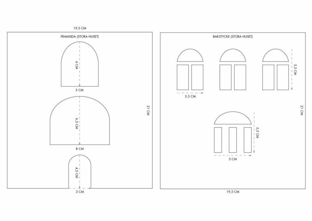 pepparkakshus ritning 4