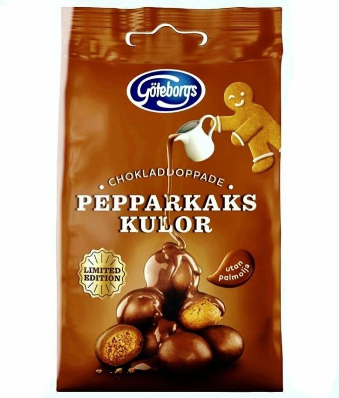 Chokladdoppade pepparkakskulor från Göteborgskex.