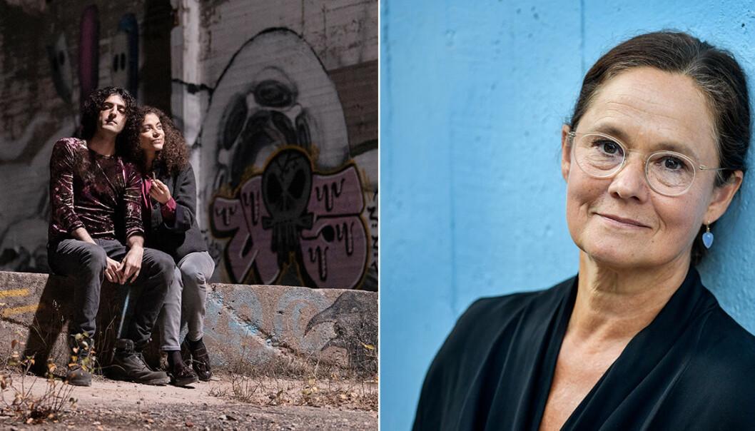 Pernilla August spelar Samuels mamma i serien Allt jag inte minns av Jonas Hassen Khemiri på SVT