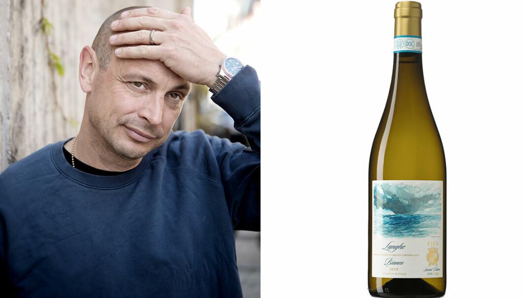 Petter och en flaska vitt vin