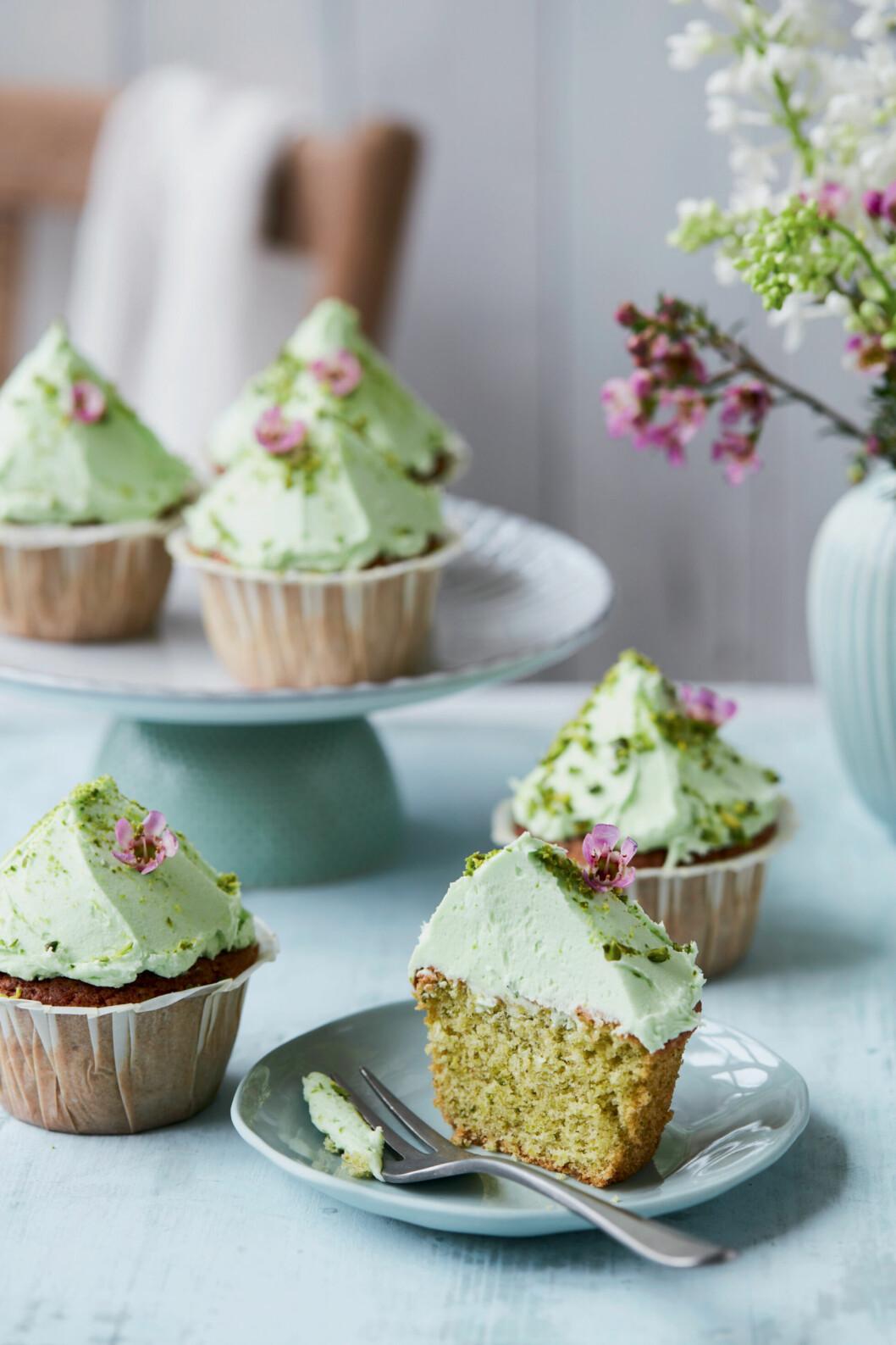 Recept på pistaschcupcakes