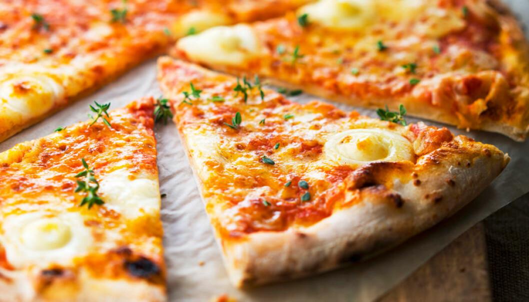Pizza fungerar utmärkt som frukost.
