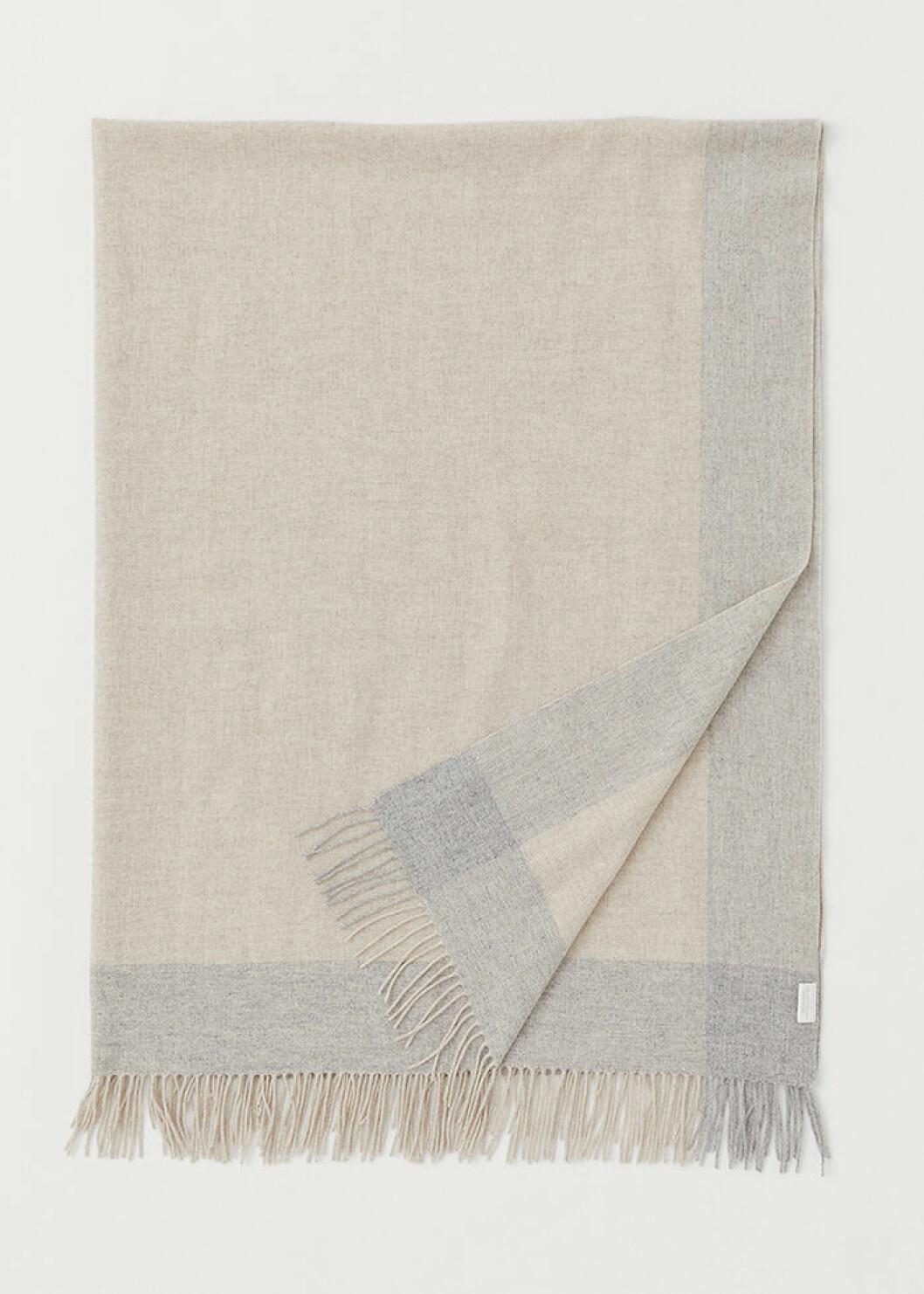 Rutig pläd i ull från H&M Home Classic Collection
