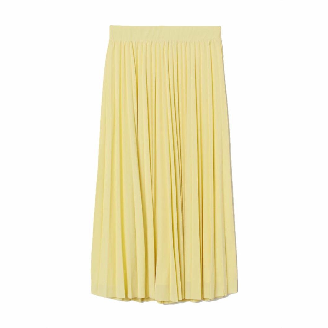 Plisserad gul kjol