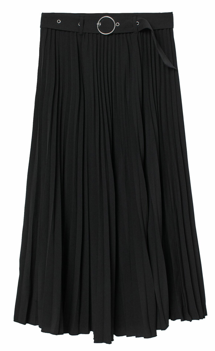 Plisserad kjol i svart från H&M.