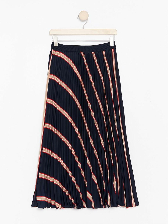 Randig plisserad kjol