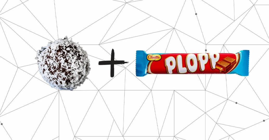 chokladboll och plopp