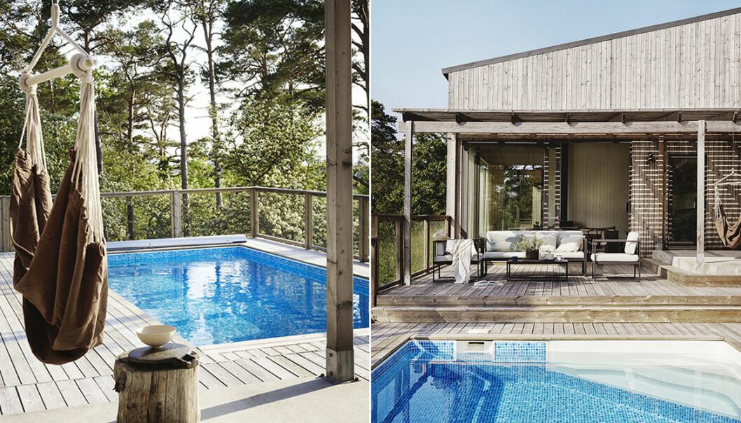 fixa stilen vid poolområdet i sommar