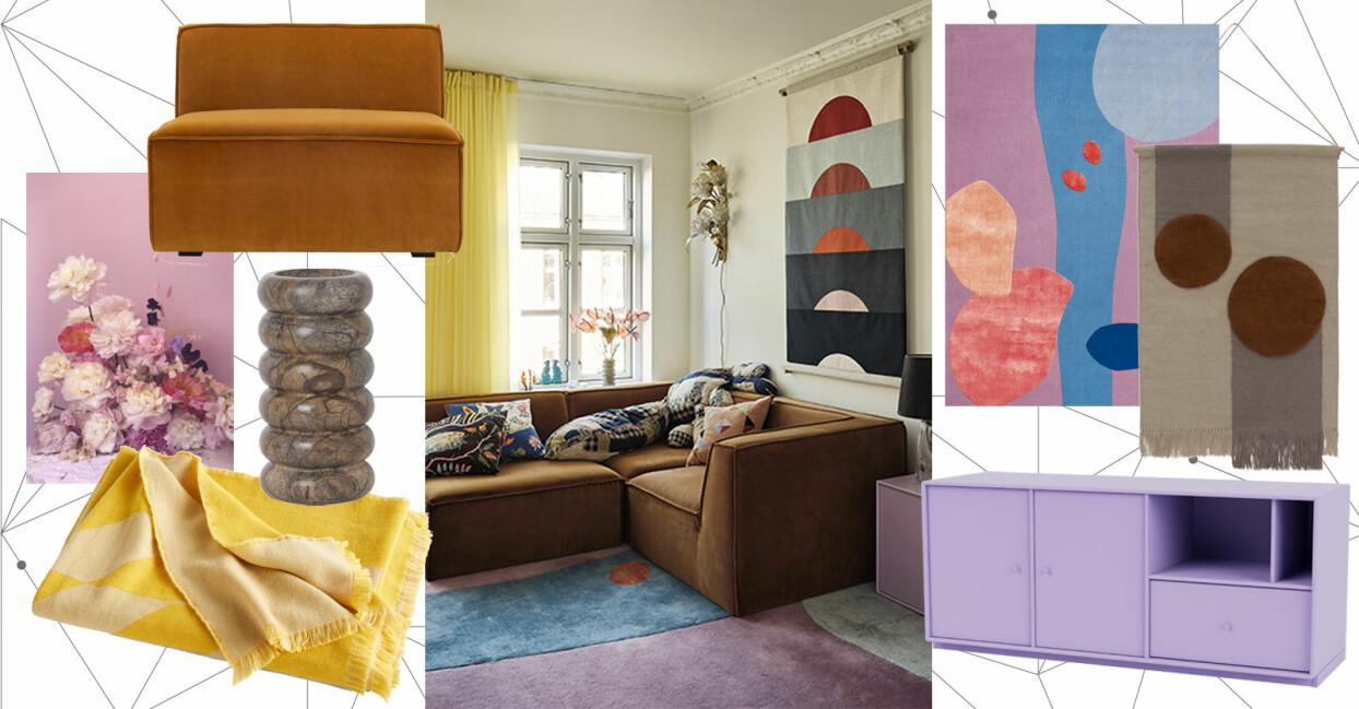 färgstark inredning inspiration
