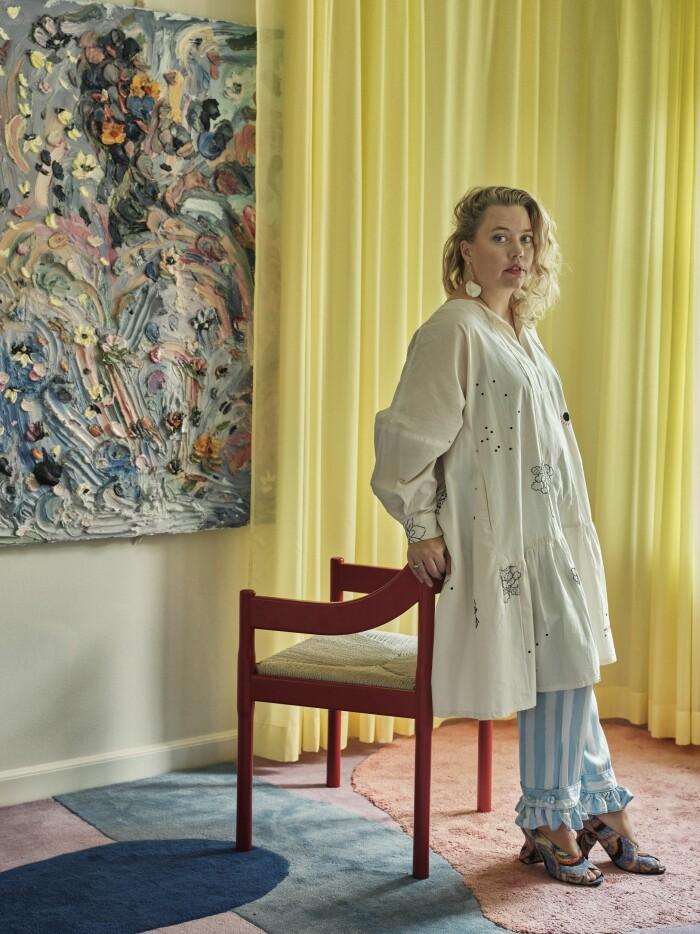 Hemma hos Poppykalas i Köpenhamn bord matta layered Thilde Maria Haukohl Kristensen