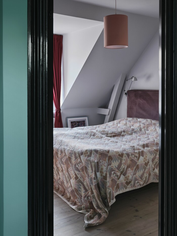 Hemma hos Poppykalas i Köpenhamn sovrum