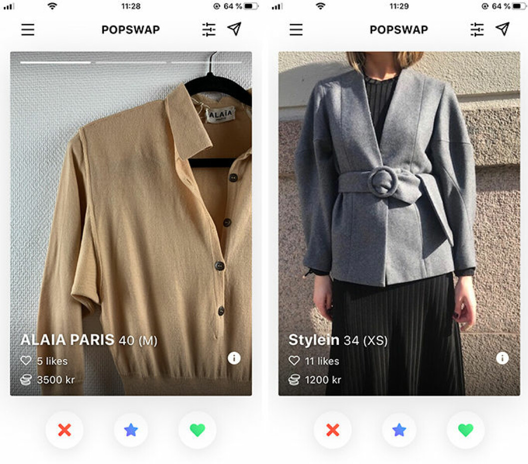 Popswap är nya klädappen där du kan byta plagg och accessoarer med andra.