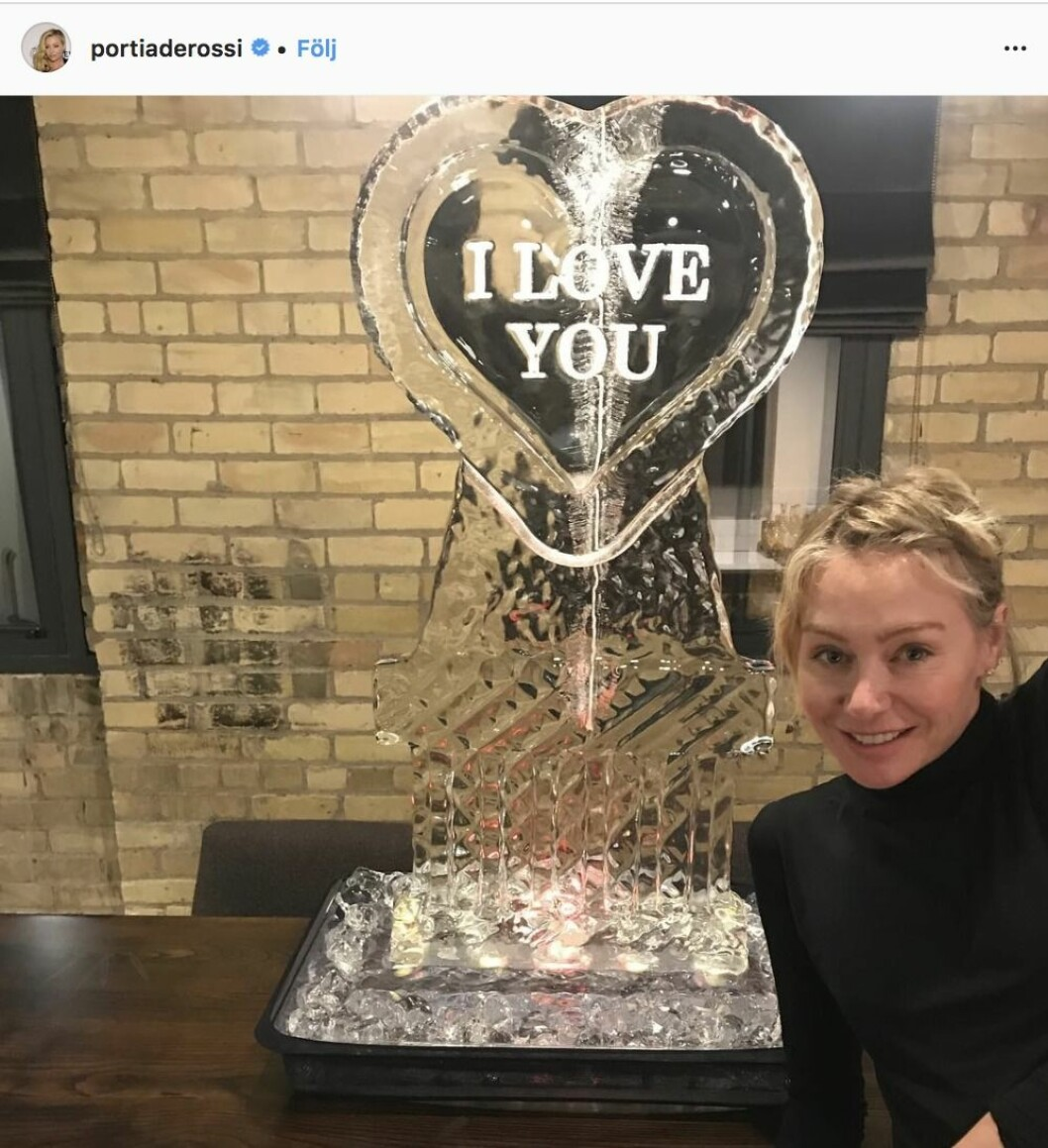 Portia di Rossi med is