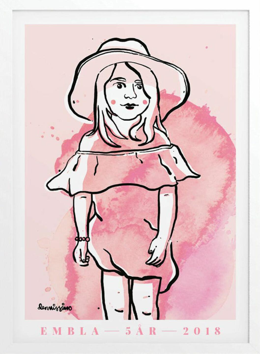 porträtt av barn från konstnären Dennis Wojda