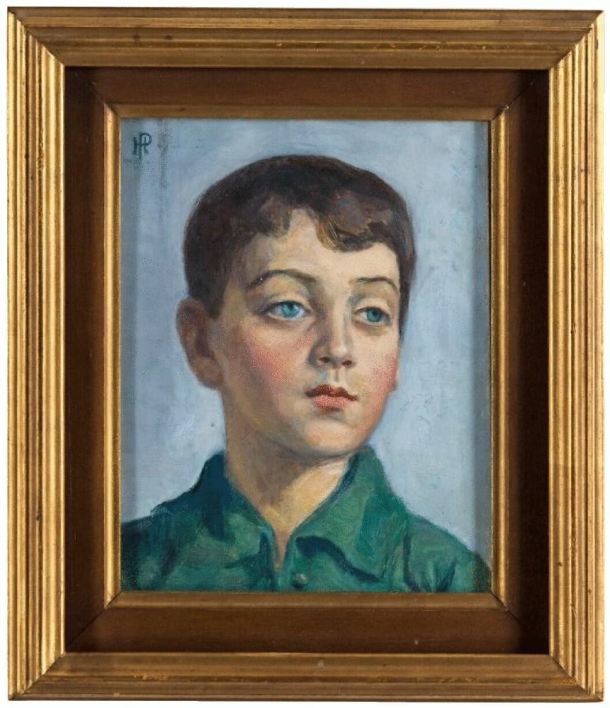 Porträtt av Jonas Bonnier av pojke