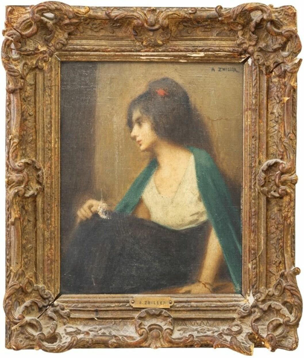 Porträtt av spanjorska, Augustin Zwiller