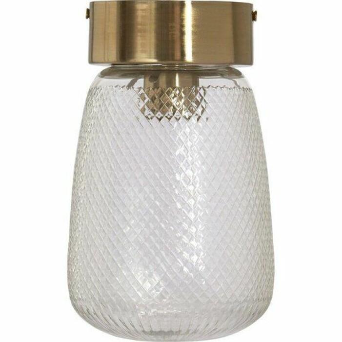 Mönstrad lampa i glas från PR Home