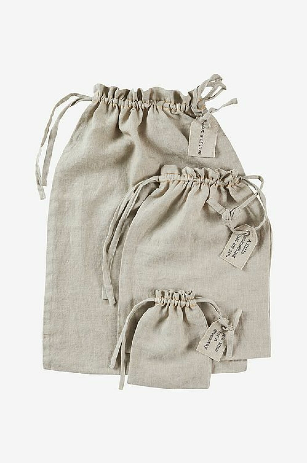 Presentpåse i linne