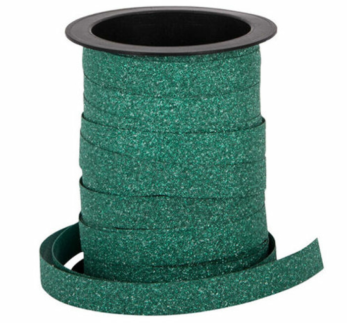 presentsnöre grön glitter