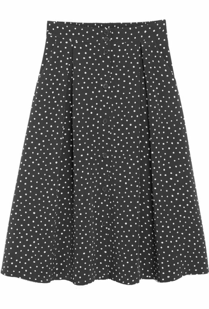 prickig kjol med knappar