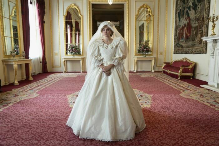 Emma Corrin som prinsessan Diana i The Crown