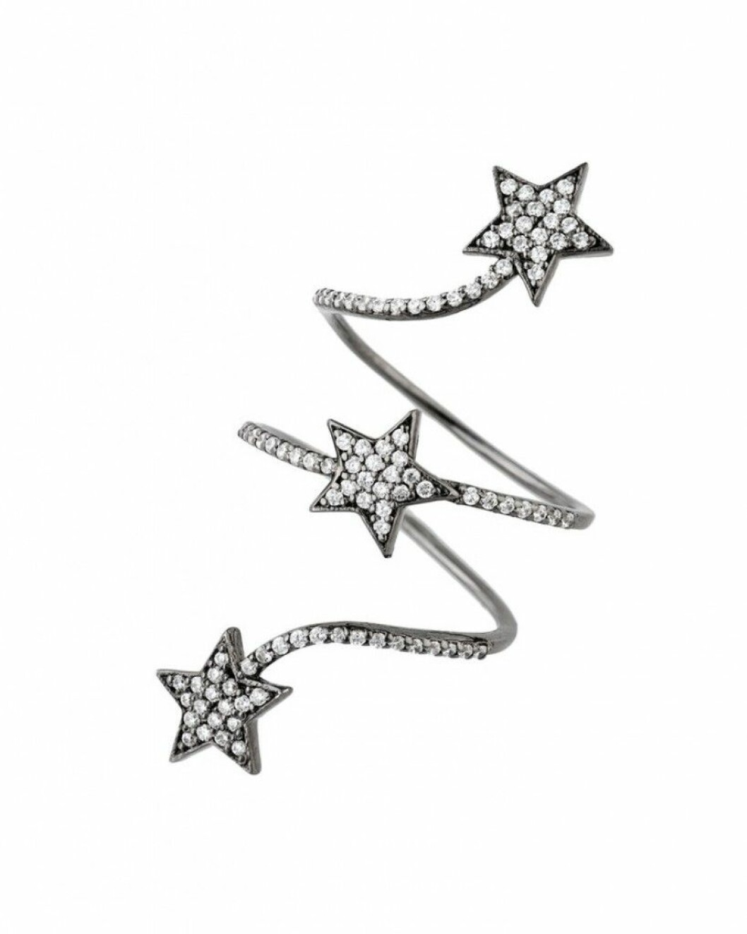 Elegant ring med snurrad design och tre stjärnsymboler från smyckesmärket CBYC.