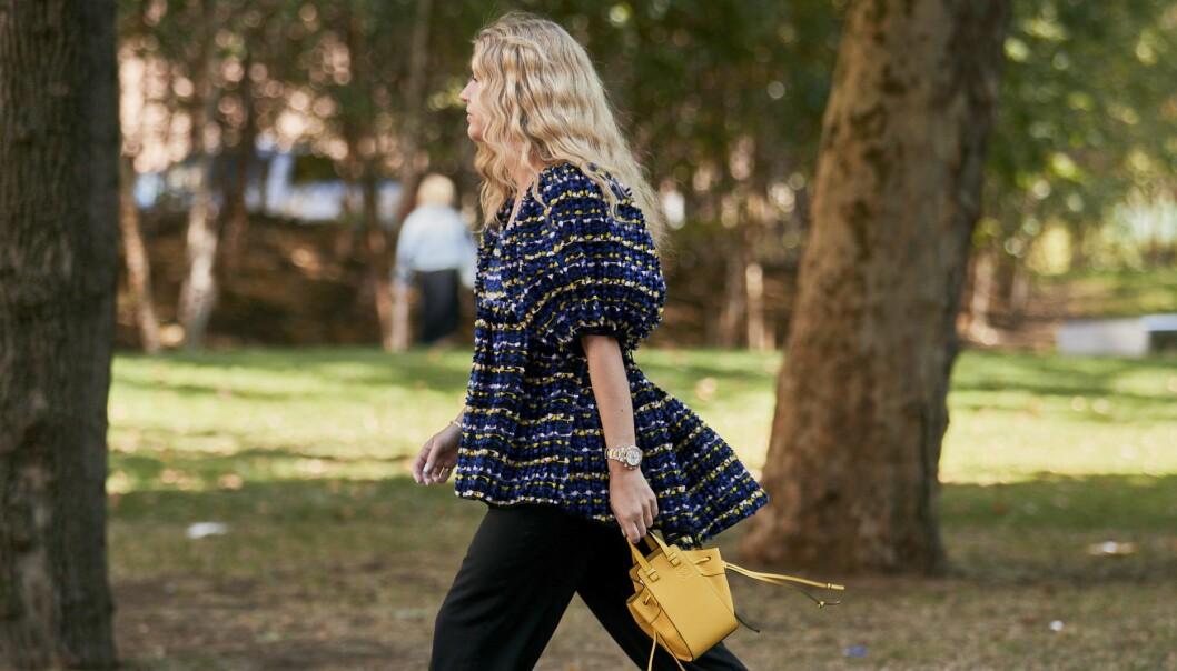 Blus, streetstyle från London Fashion week.