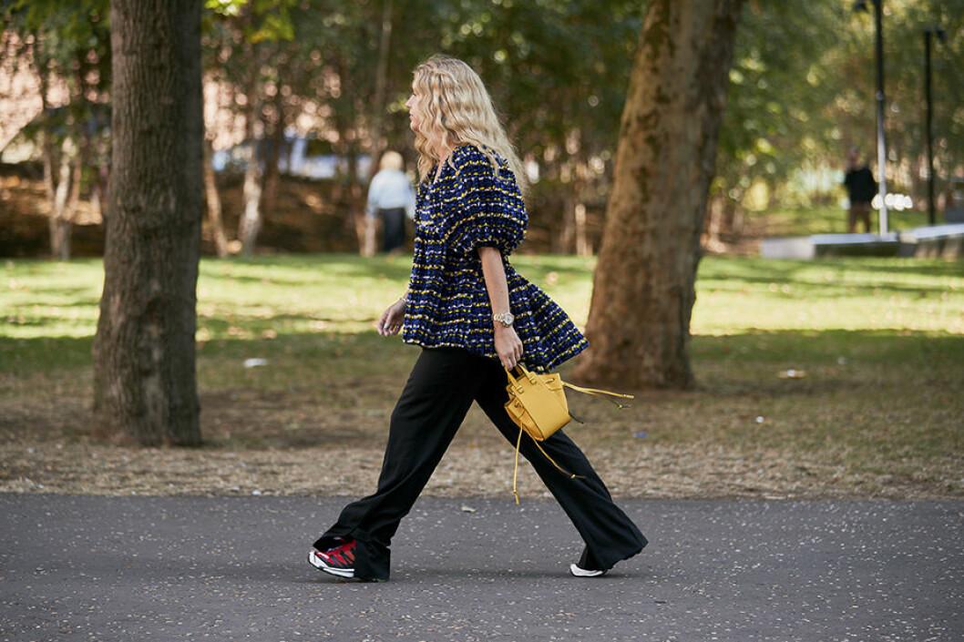 puffblus, inspiration från Londons modevecka.