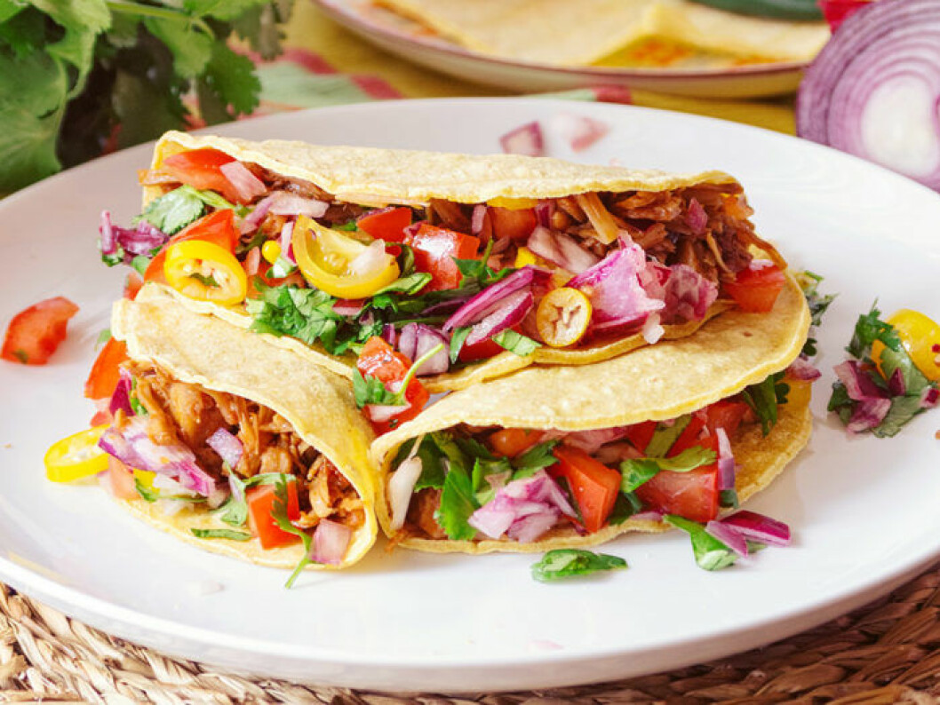 Pulled jackfruit med tacos. Foto: Shutterstock