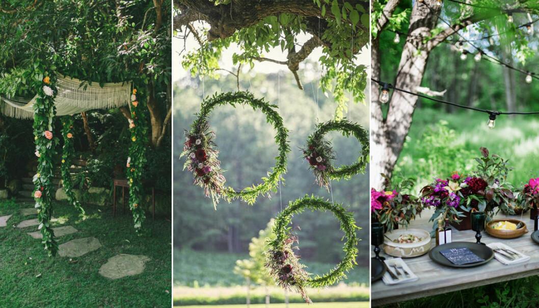olika sätt att pynta i trädgården