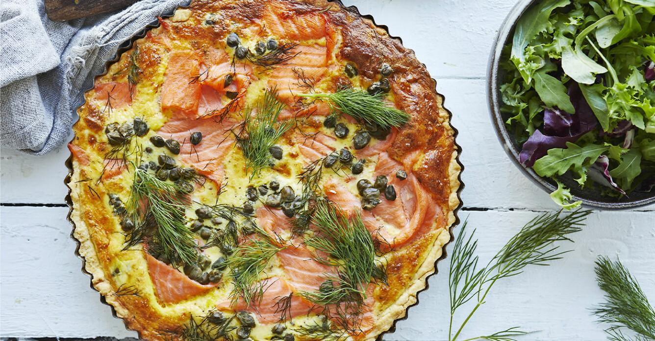 Recept på quiche au saumon fumé