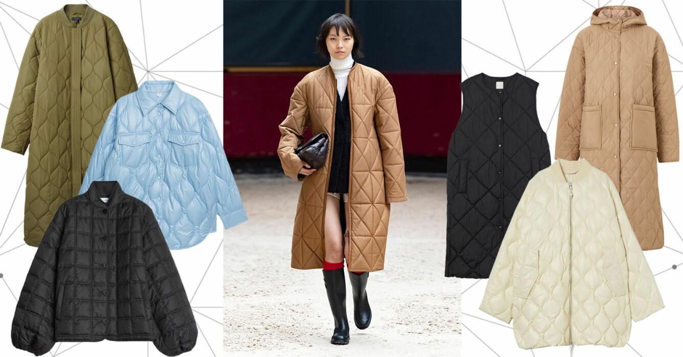 quiltad jacka och kappa hösten och vintern 2021 – bästa köpen just nu