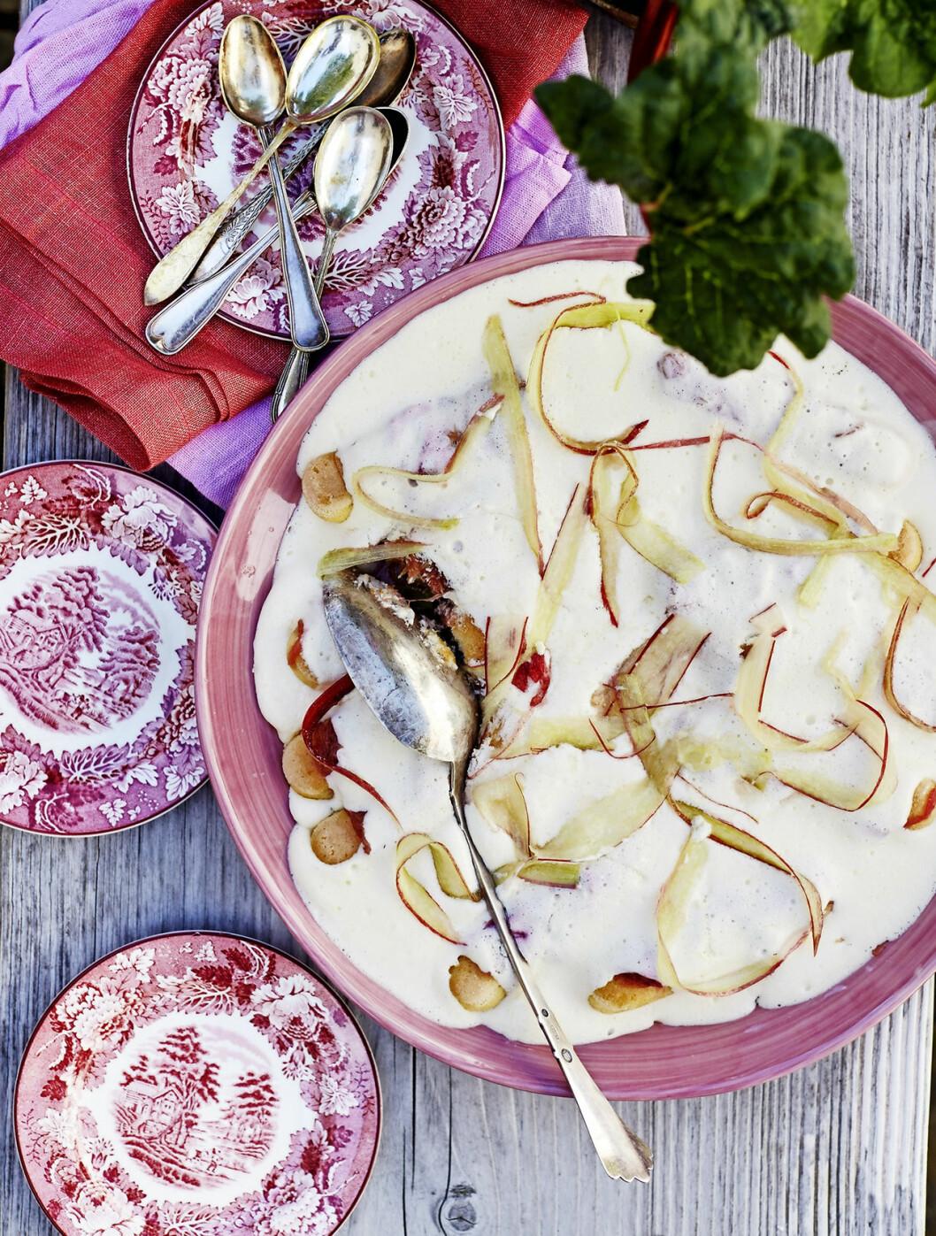 Recept tiramisu med rabarber.
